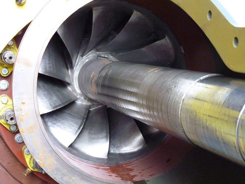 roue d une turbine Francis avant mise en service