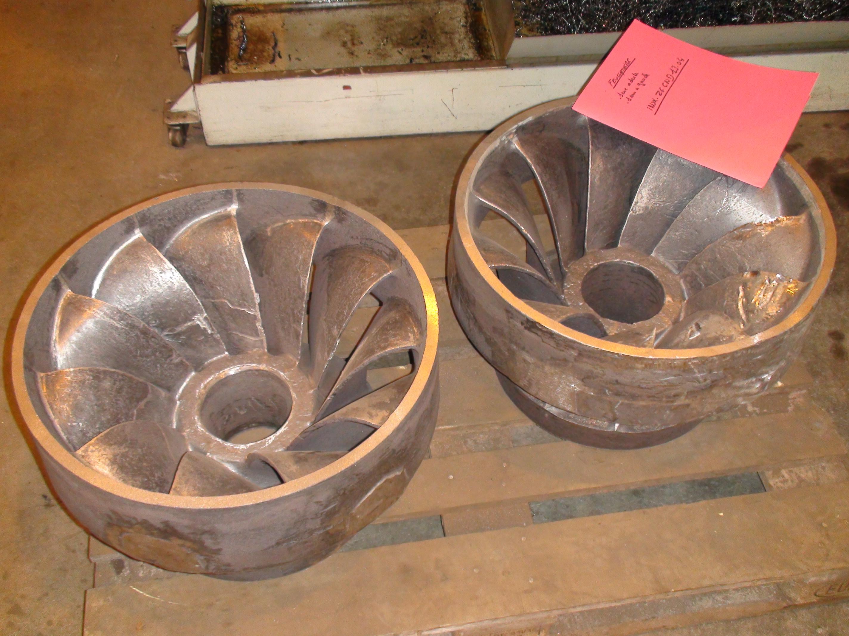 roues d une turbine Francis double Dumont
